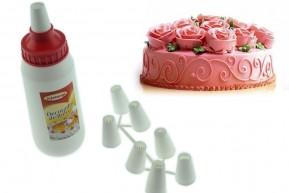 Decorador de Bolos, Doces e Cupcake com 8 Bicos Diversos