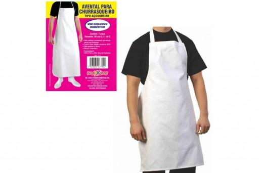 Avental Branco para Churrasqueiro Tipo Açougueiro 1 metro x 64 cm