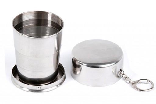Copo de Inox Abre e Fecha Retrátil Sanfonado PEQUENO 140 ml