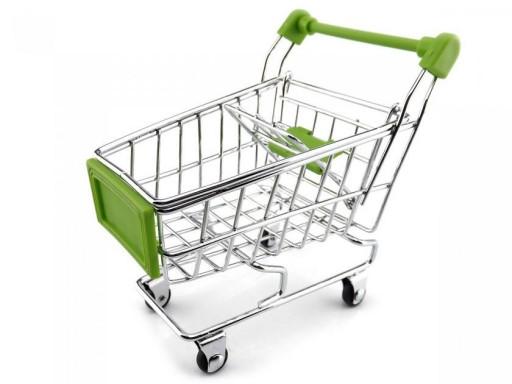 Miniatura de Carrinho de Supermercado - Modelo Médio