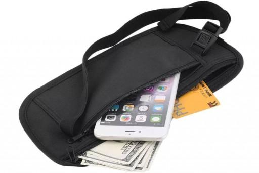 Pochete Oculta Porta Dinheiros, Jóias, Documentos, Celular e Cartões