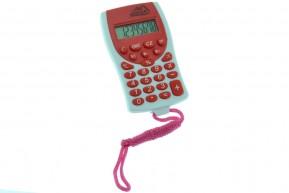 Calculadora Eletrônica Colorida com Cordão Colar
