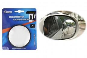 Espelho Redondo Grande 7,8 cm Convexo Adesivo para Retrovisor de Carro 1 Unid