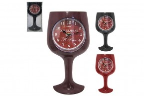 Relógio para Parede Formato Taça de Vinho