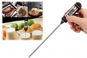Termômetro Culinário Digital para Cozinha Medição Alimentos e Bebidas